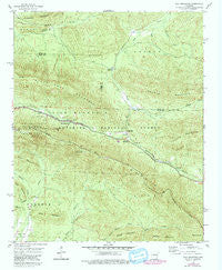 Rich Mountain Arkansas Historical topographic map, 1:24000 scale, 7.5 X 7.5 Minute, Year 1958