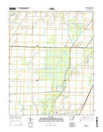 Risher Arkansas Current topographic map, 1:24000 scale, 7.5 X 7.5 Minute, Year 2014 from Arkansas Map Store