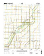 Rivervale Arkansas Current topographic map, 1:24000 scale, 7.5 X 7.5 Minute, Year 2014 from Arkansas Map Store