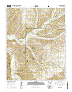 Robinson Arkansas Current topographic map, 1:24000 scale, 7.5 X 7.5 Minute, Year 2014 from Arkansas Map Store
