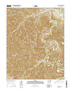 Rockhouse Arkansas Current topographic map, 1:24000 scale, 7.5 X 7.5 Minute, Year 2014 from Arkansas Map Store