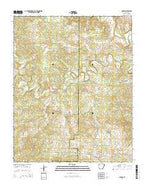 Sidney Arkansas Current topographic map, 1:24000 scale, 7.5 X 7.5 Minute, Year 2014 from Arkansas Map Store