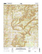 Sidon Arkansas Current topographic map, 1:24000 scale, 7.5 X 7.5 Minute, Year 2014 from Arkansas Map Store