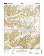 Siloam Springs Arkansas Current topographic map, 1:24000 scale, 7.5 X 7.5 Minute, Year 2014 from Arkansas Map Store