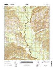 Silver Ridge Arkansas Current topographic map, 1:24000 scale, 7.5 X 7.5 Minute, Year 2014 from Arkansas Maps Store