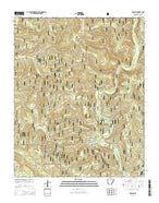 Simpson Arkansas Current topographic map, 1:24000 scale, 7.5 X 7.5 Minute, Year 2014 from Arkansas Map Store