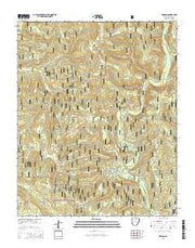 Simpson Arkansas Current topographic map, 1:24000 scale, 7.5 X 7.5 Minute, Year 2014 from Arkansas Maps Store