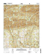 Sims Arkansas Current topographic map, 1:24000 scale, 7.5 X 7.5 Minute, Year 2014 from Arkansas Map Store
