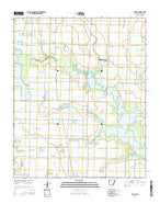 Slovak Arkansas Current topographic map, 1:24000 scale, 7.5 X 7.5 Minute, Year 2014 from Arkansas Map Store