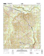 Smackover Arkansas Current topographic map, 1:24000 scale, 7.5 X 7.5 Minute, Year 2014 from Arkansas Map Store