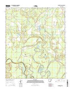 Smackover NE Arkansas Current topographic map, 1:24000 scale, 7.5 X 7.5 Minute, Year 2014 from Arkansas Map Store