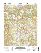 Snowball Arkansas Current topographic map, 1:24000 scale, 7.5 X 7.5 Minute, Year 2014 from Arkansas Map Store