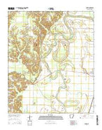 Snyder Arkansas Current topographic map, 1:24000 scale, 7.5 X 7.5 Minute, Year 2014 from Arkansas Map Store