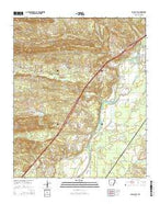 Social Hill Arkansas Current topographic map, 1:24000 scale, 7.5 X 7.5 Minute, Year 2014 from Arkansas Map Store