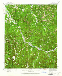 St. Paul Arkansas Historical topographic map, 1:62500 scale, 15 X 15 Minute, Year 1943