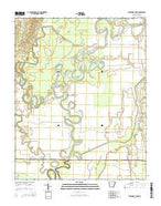 Strangers Home Arkansas Current topographic map, 1:24000 scale, 7.5 X 7.5 Minute, Year 2014 from Arkansas Map Store