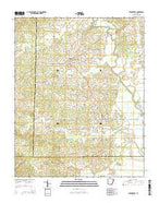 Strawberry Arkansas Current topographic map, 1:24000 scale, 7.5 X 7.5 Minute, Year 2014 from Arkansas Map Store