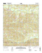 Strong Arkansas Current topographic map, 1:24000 scale, 7.5 X 7.5 Minute, Year 2014 from Arkansas Map Store