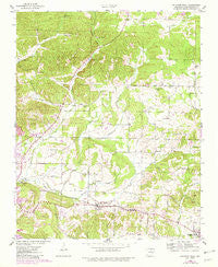 Sulphur Rock Arkansas Historical topographic map, 1:24000 scale, 7.5 X 7.5 Minute, Year 1943