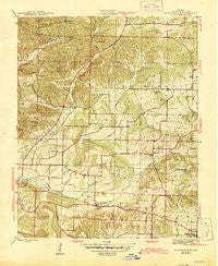 Sulphur Rock Arkansas Historical topographic map, 1:31680 scale, 7.5 X 7.5 Minute, Year 1943