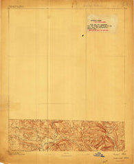 Treat Arkansas Historical topographic map, 1:62500 scale, 15 X 15 Minute, Year 1889