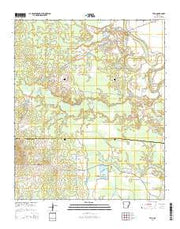 Tyro Arkansas Current topographic map, 1:24000 scale, 7.5 X 7.5 Minute, Year 2014 from Arkansas Maps Store