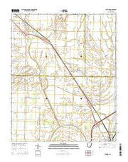 Tyronza Arkansas Current topographic map, 1:24000 scale, 7.5 X 7.5 Minute, Year 2014 from Arkansas Maps Store