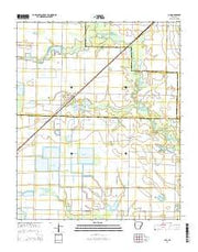 Ulm Arkansas Current topographic map, 1:24000 scale, 7.5 X 7.5 Minute, Year 2014 from Arkansas Maps Store