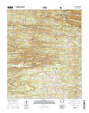 Umpire Arkansas Current topographic map, 1:24000 scale, 7.5 X 7.5 Minute, Year 2014 from Arkansas Maps Store