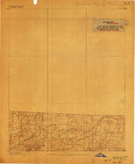 Watalula Arkansas Historical topographic map, 1:62500 scale, 15 X 15 Minute, Year 1887