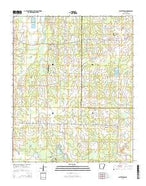 Wattensaw Arkansas Current topographic map, 1:24000 scale, 7.5 X 7.5 Minute, Year 2014 from Arkansas Map Store