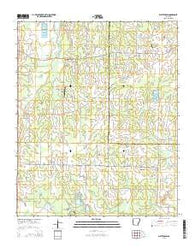 Wattensaw Arkansas Current topographic map, 1:24000 scale, 7.5 X 7.5 Minute, Year 2014