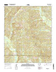 Wesson Arkansas Current topographic map, 1:24000 scale, 7.5 X 7.5 Minute, Year 2014
