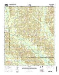 Wesson SW Arkansas Current topographic map, 1:24000 scale, 7.5 X 7.5 Minute, Year 2014