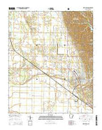 West Helena Arkansas Current topographic map, 1:24000 scale, 7.5 X 7.5 Minute, Year 2014 from Arkansas Map Store
