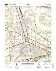 West Memphis Arkansas Current topographic map, 1:24000 scale, 7.5 X 7.5 Minute, Year 2014