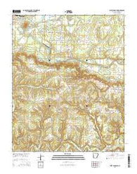 West Pangburn Arkansas Current topographic map, 1:24000 scale, 7.5 X 7.5 Minute, Year 2014