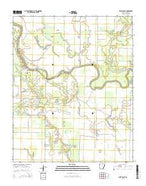 West Point Arkansas Current topographic map, 1:24000 scale, 7.5 X 7.5 Minute, Year 2014 from Arkansas Map Store