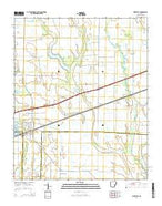 Wheatley Arkansas Current topographic map, 1:24000 scale, 7.5 X 7.5 Minute, Year 2014 from Arkansas Map Store