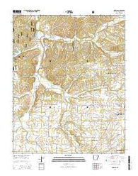 Wheeler Arkansas Current topographic map, 1:24000 scale, 7.5 X 7.5 Minute, Year 2014