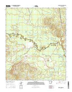 Whelen Springs Arkansas Current topographic map, 1:24000 scale, 7.5 X 7.5 Minute, Year 2014 from Arkansas Map Store