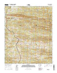 Wickes Arkansas Current topographic map, 1:24000 scale, 7.5 X 7.5 Minute, Year 2014