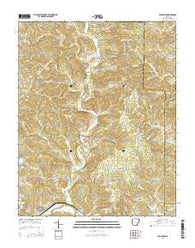 Williford Arkansas Current topographic map, 1:24000 scale, 7.5 X 7.5 Minute, Year 2014