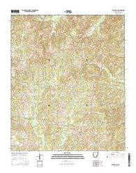 Willisville Arkansas Current topographic map, 1:24000 scale, 7.5 X 7.5 Minute, Year 2014