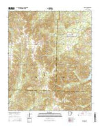 Willow Arkansas Current topographic map, 1:24000 scale, 7.5 X 7.5 Minute, Year 2014 from Arkansas Map Store