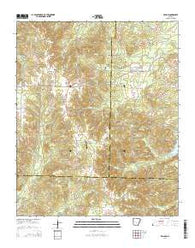 Willow Arkansas Current topographic map, 1:24000 scale, 7.5 X 7.5 Minute, Year 2014