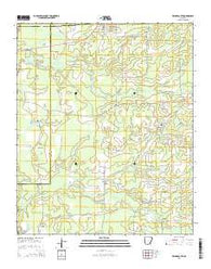 Wilmar South Arkansas Current topographic map, 1:24000 scale, 7.5 X 7.5 Minute, Year 2014