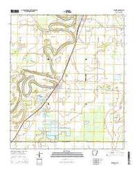 Wilmot Arkansas Current topographic map, 1:24000 scale, 7.5 X 7.5 Minute, Year 2014