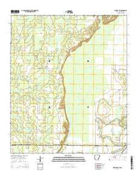 Wilmot SW Arkansas Current topographic map, 1:24000 scale, 7.5 X 7.5 Minute, Year 2014