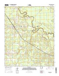 Winthrop Arkansas Current topographic map, 1:24000 scale, 7.5 X 7.5 Minute, Year 2014